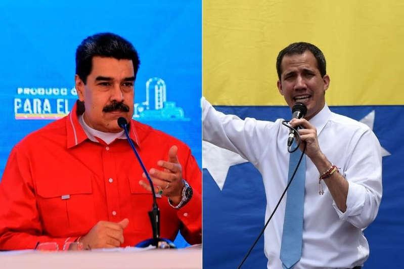 Juan Guaidó y Maduro