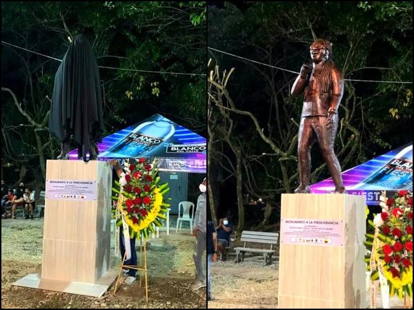 Otro homenaje para Junior Jein, hoy entregaron su monumento