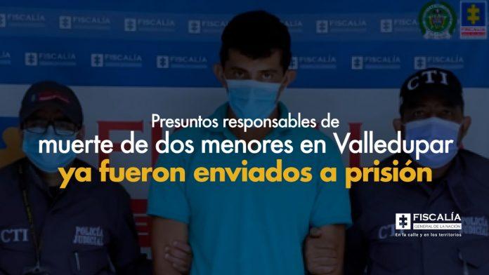 Presuntos responsables de muerte de dos menores en Valledupar ya fueron enviados a prisión - Noticias de Colombia