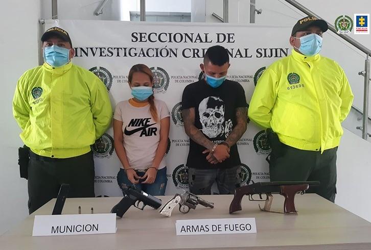 Privados de la libertad una pareja por presunto tráfico de armas en Norte de Santander
