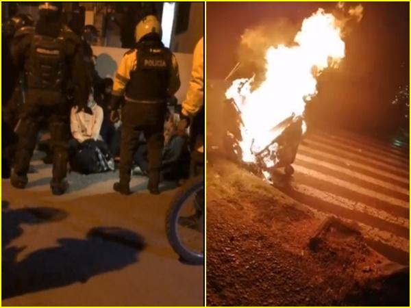 Tensa situación a esta hora en algunos sectores de Pasto, ante las manifestaciones del 28J