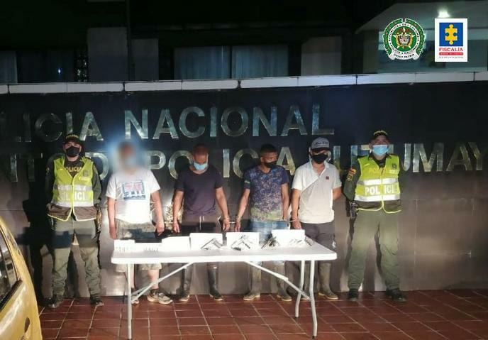 Tres hombres fueron privados de la libertad por posible porte ilegal de armas
