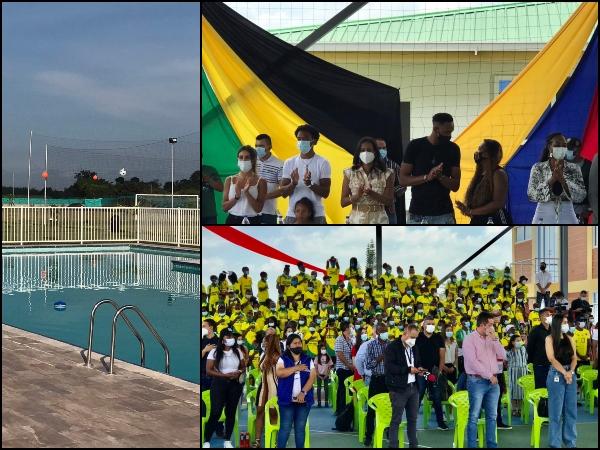 """""""Un gesto con el corazón"""": Inauguraron el ampliado complejo deportivo Fundación Yerry Mina en Guachené"""