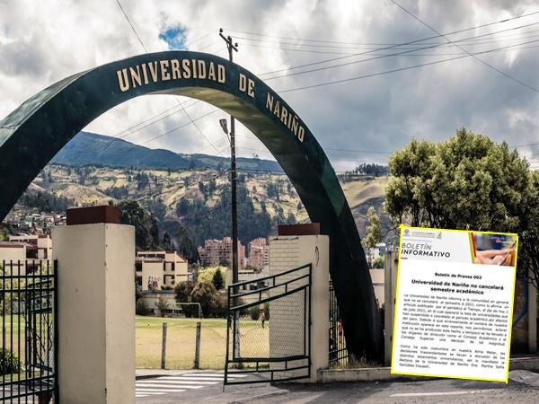 Universidad de Nariño desmiente versiones y asegura que no cancelará semestre académico