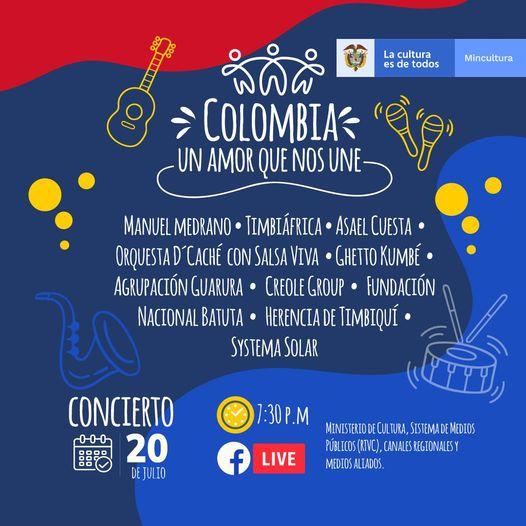 Este martes, 20 de julio, los colombianos podrán disfrutar del Gran Concierto Nacional 'Colombia, un amor que nos une' | Noticias de Buenaventura, Colombia y el Mundo