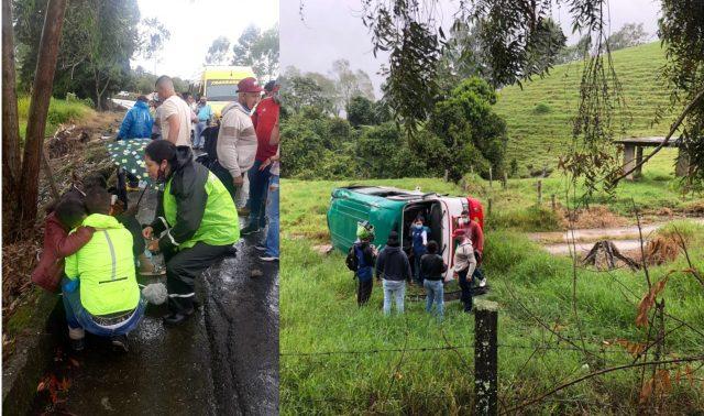 Bus de servicio intermunicipal se accidentó. Cerca de 10 pasajeros resultaron heridos - Noticias de Colombia