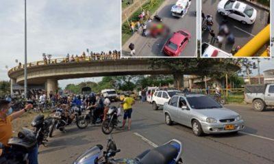 Cali: Los motociclistas perdieron el control cuando cruzaron el puente elevado en la Calle 70 y cayeron al vacío - Noticias de Colombia
