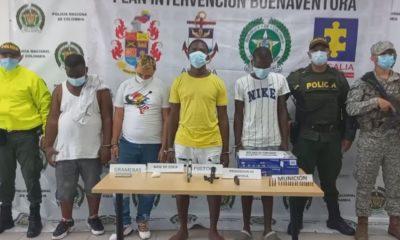 Cuatro personas fueron capturadas en allanamiento por parte de la policía de Buenaventura