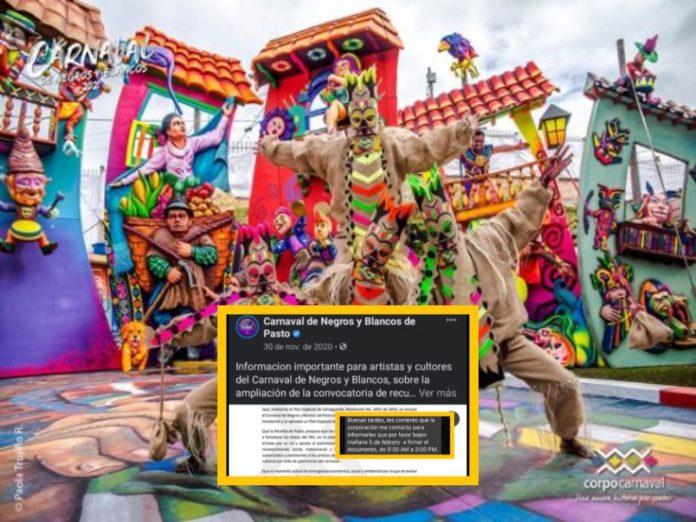 artistas Carnaval de Negros y Blancos