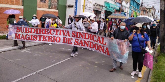 Docentes sandoneños participaron en jornada de protesta - Noticias de Colombia
