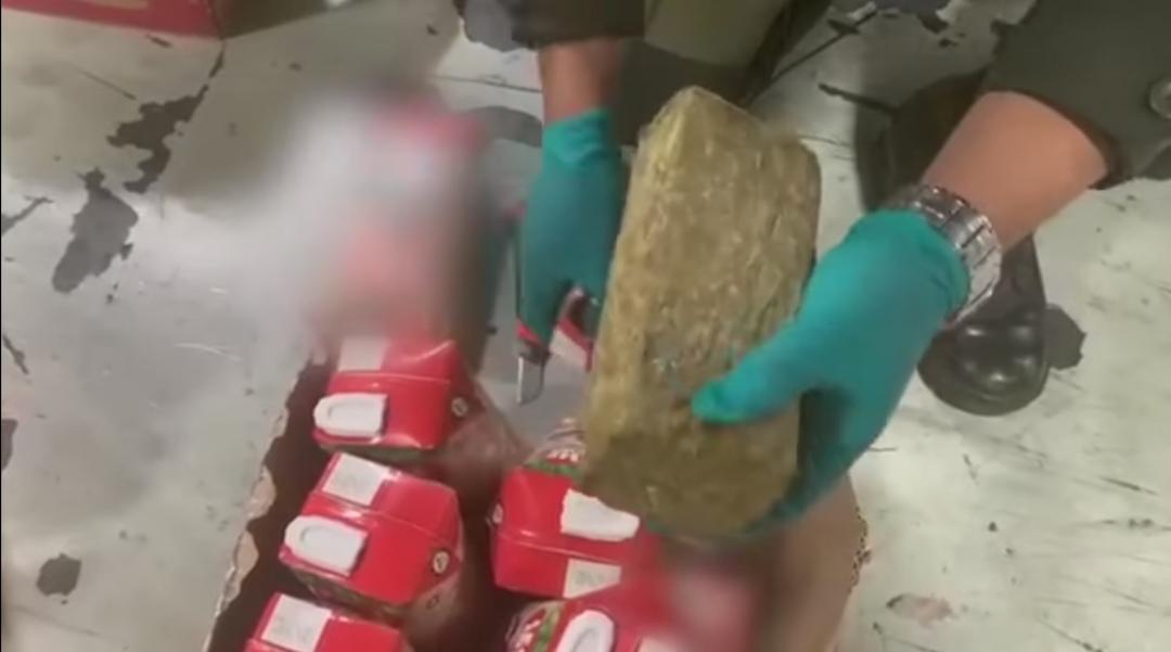 En un contenedor fue descubierto 855 kilos de marihuana en Buenaventura