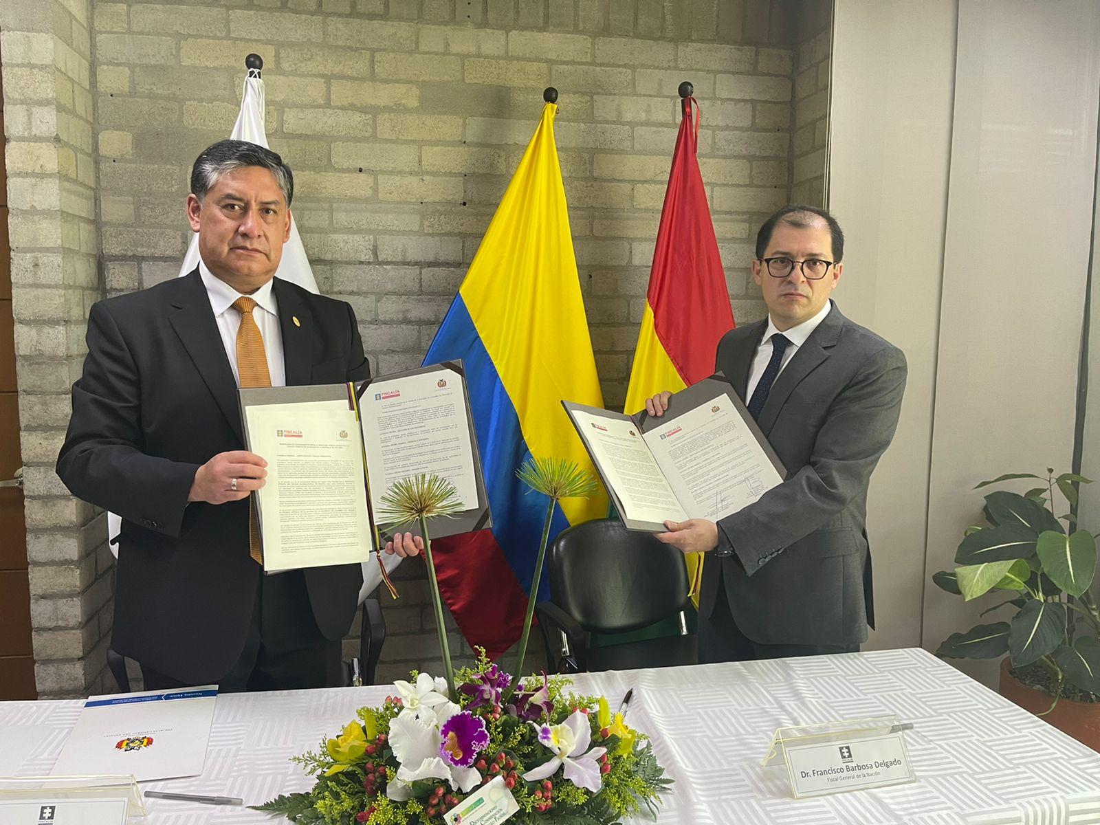 Fiscalía General de la Nación de Colombia y Ministerio Público de Bolivia suscribieron memorando de entendimiento para luchar contra la criminalidad - Noticias de Colombia