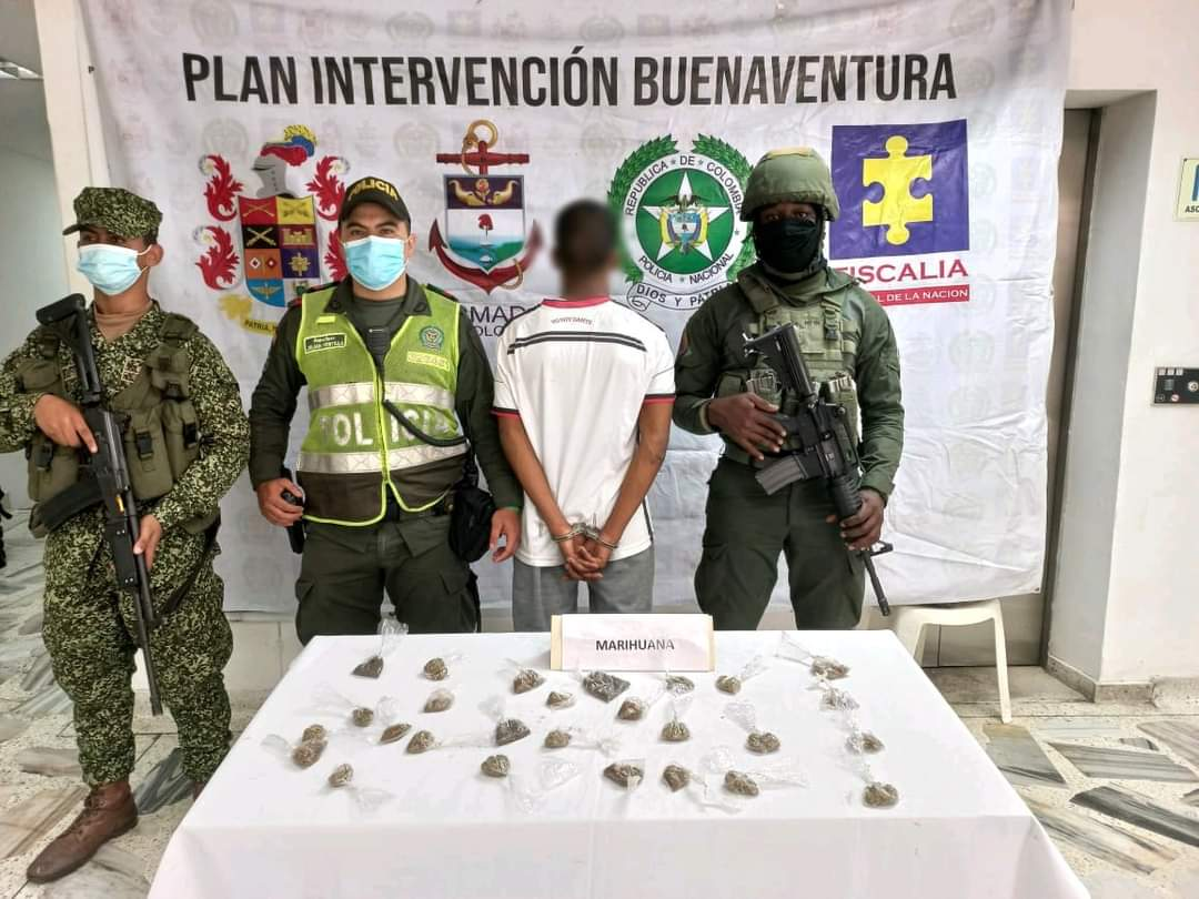 Hombre fue capturado por porte de marihuana en Buenaventura