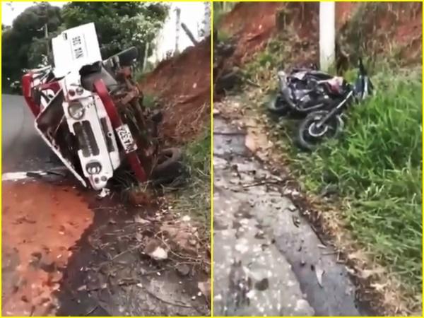 Horrible accidente en Cali: vehículo con pasajeros volcó y dejó 18 heridos