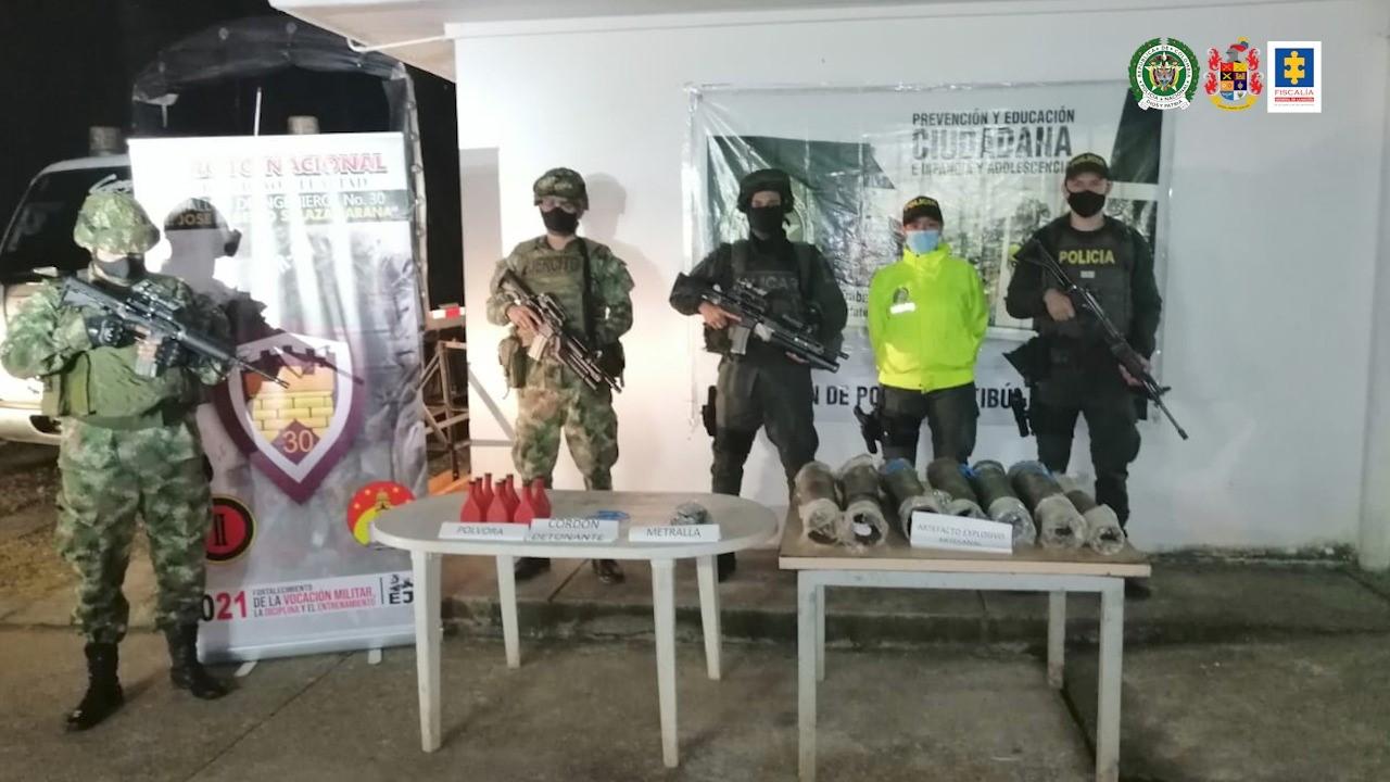 Incautado material de guerra en zona rural del municipio de Tibú (Norte de Santander) - Noticias de Colombia