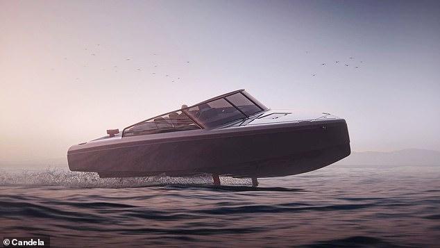 Candela ha presentado su nueva lancha motora de hidroala totalmente eléctrica, el C-8, que dice que puede romper el límite de 50 náuticos del C-7, ya tres veces más largo que otros barcos eléctricos.  Está destinado a la 'producción en volumen' para competir con los barcos con motor de combustión