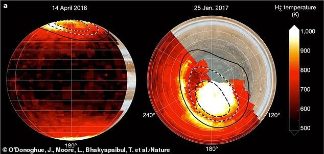 Los científicos han estado desconcertados por la 'crisis energética' de Júpiter durante 50 años, que es la idea de que un planeta tan lejos del sol debería estar a unos 163 grados Fahrenheit, pero la atmósfera del gigante gaseoso es 798F.