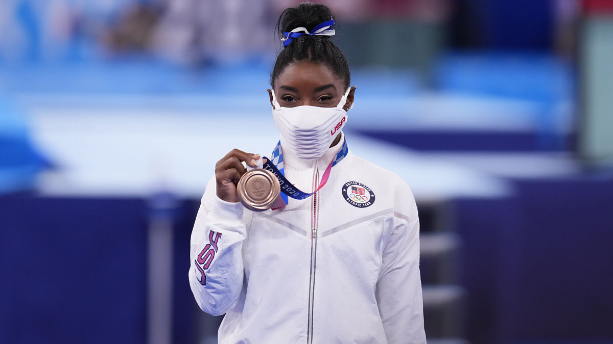 Simone Biles Returns To Action, Medals In Final Olympic Competition