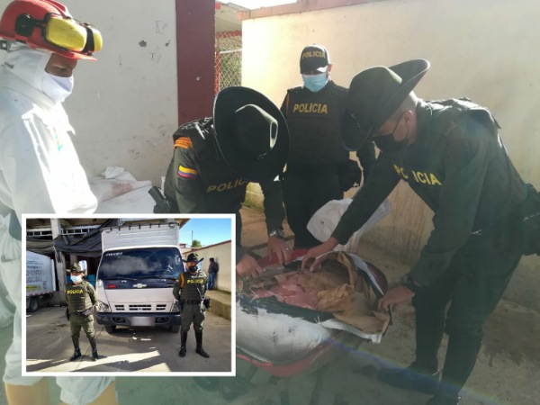 """Sin permisos sanitarios y """"sin garantizar la cadena de frío"""", así transportaban 625 kilos de carne en la vía Pasto – Túquerres - Noticias de Colombia"""