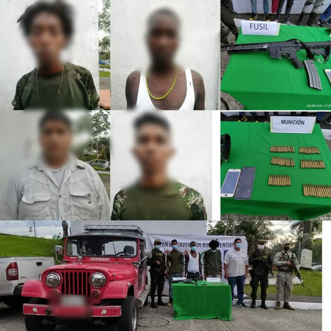 4 personas fueron capturadas en la ciudadela de San Antonio en Buenaventura