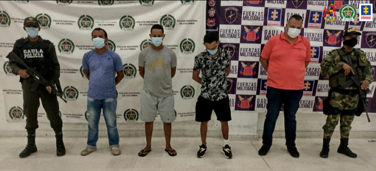A la cárcel cuatro presuntos integrantes del grupo delincuencial Los Pachenca en La Guajira - Noticias de Colombia