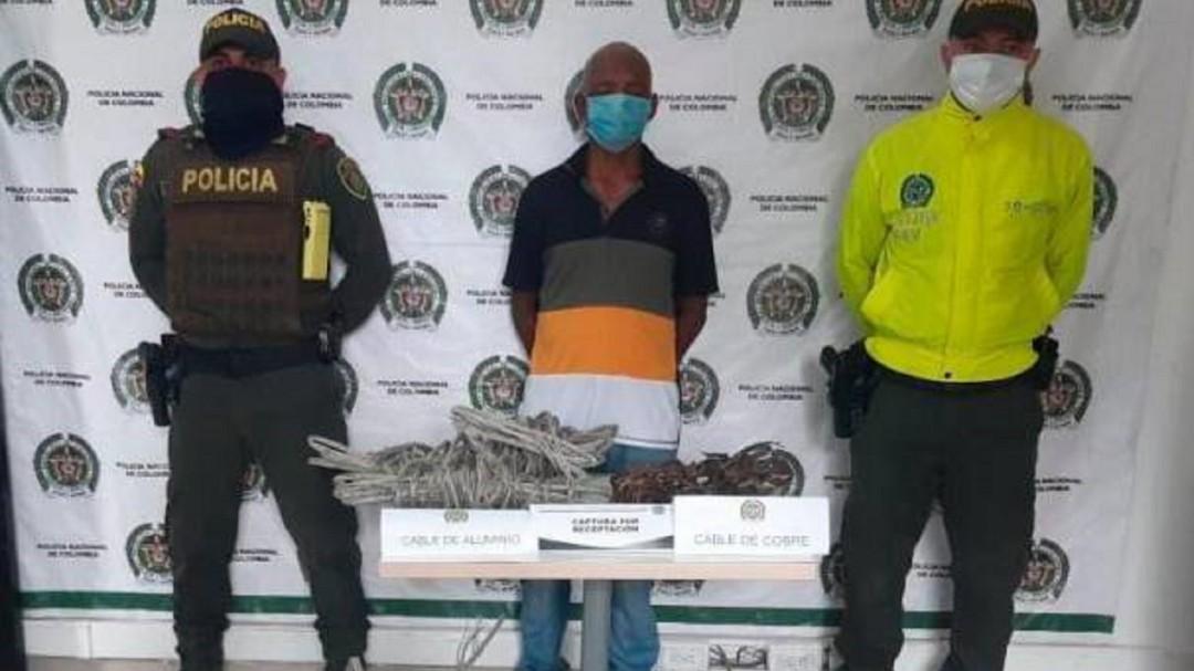 Adulto mayor capturado por presunta compra de cables robados en Arjona - Noticias de Colombia