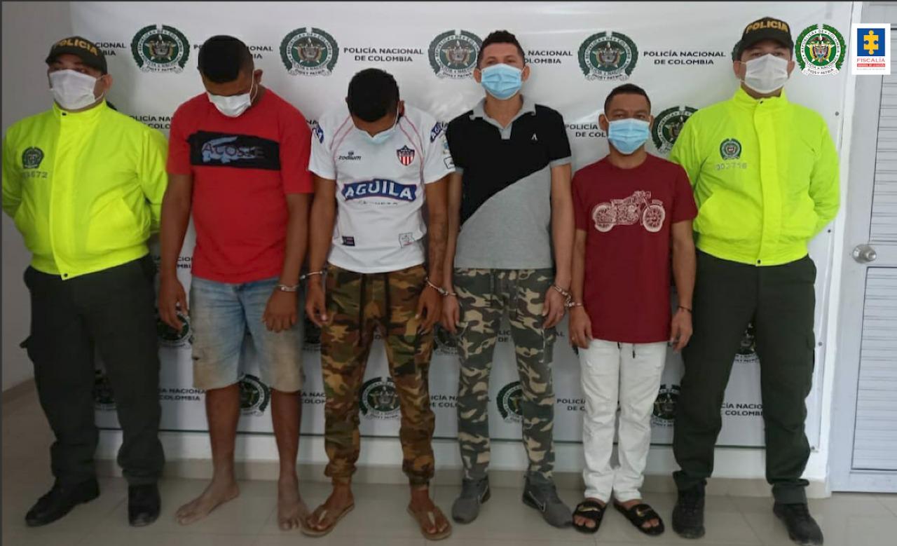 Asegurados cuatro presuntos integrantes de la banda delictiva Los de la 18 en Bosconia (Cesar) - Noticias de Colombia