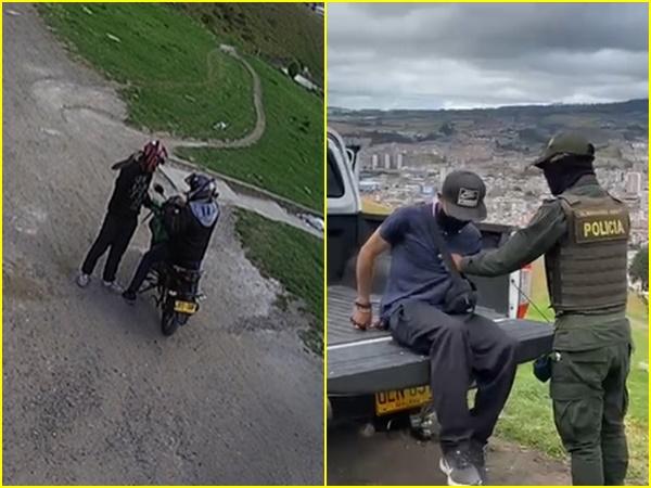 Así como en otras ciudades en Pasto también están robando con machete, ladrón fue atrapado en el barrio Común