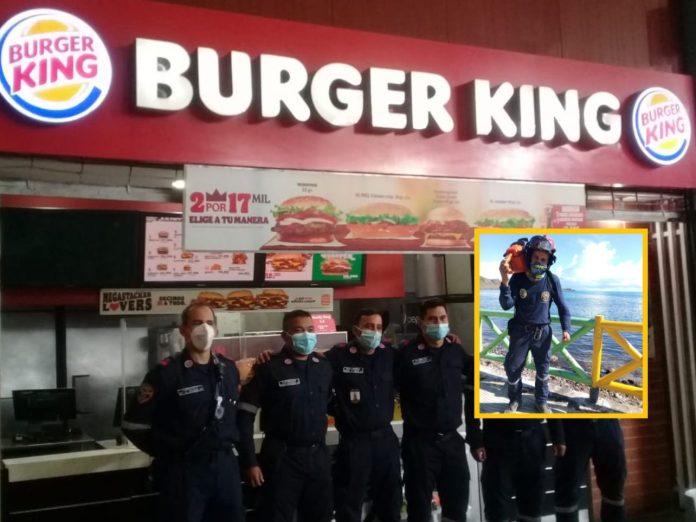 Bombero de Burger King