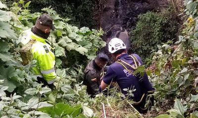 Bomberos llegaron a tiempo y evitaron tragedia, joven se iba lanzar al río Guáitara de Ipiales