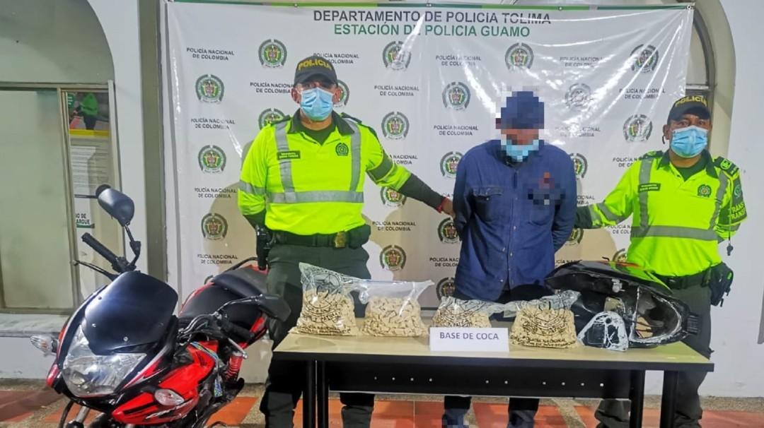 Cargamento de droga es incautado por la Policía en el Guamo, Tolima - Noticias de Colombia