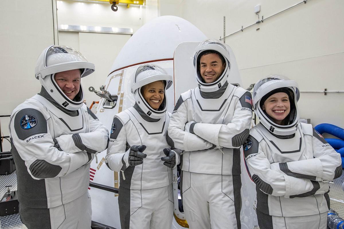 Civiles de la misión Inspiration4 tendrán una ventana hacia el espacio