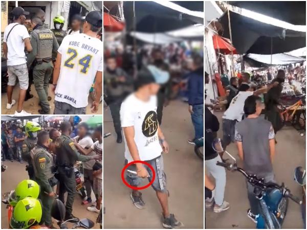Con cuchillo en mano se enfrentaron a policías en medio de una detención en Santander de Quilichao