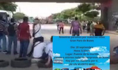 Conductores de buses en Barranquilla nuevamente protestarán para que se refuerce la seguridad - Noticias de Colombia