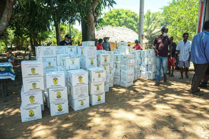Damnificados por el invierno en Caimito reciben las primeras ayudas humanitarias