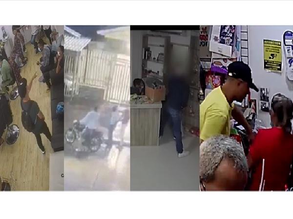 Delincuencia desatada en Barranquilla: Atracos a perfumería, peluquería y miscelánea quedaron grabados en video - Noticias de Colombia