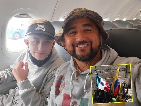 Desde Pasto Padre e hijo viajaron a México para recorrer 200 kilómetros por la dignidad de los animales