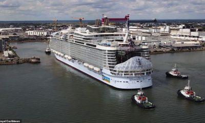 Se han publicado increíbles imágenes de video que muestran al crucero más grande del mundo, el Wonder of the Seas de Royal Caribbean, completando sus pruebas en el mar.