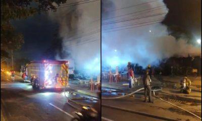 El incendio en Guaduales no fue en una casa, fue un kiosco y no hubo heridos - Noticias de Colombia