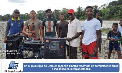 En el municipio de Lloró se reponen plantas eléctricas de comunidades afros e indígenas no interconectadas. - Noticias de Colombia