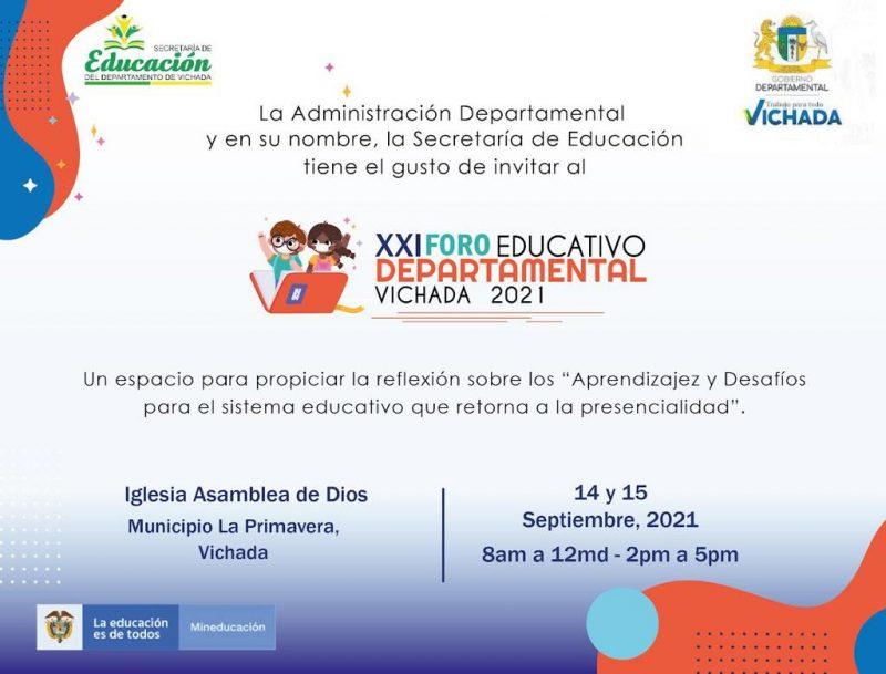 Foro Educativo Departamental se desarrolla en La Primavera - Noticias de Colombia