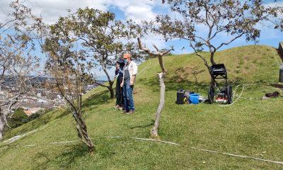 Grupo de arqueólogos realizan mapeo y con georradar intentan verificar que hay debajo de la parte visible del morro de Tulcán - Noticias de Colombia