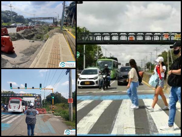 """Hasta que haya una """"cultura del paso de peatones"""", el puente autónomo continuará en la vía Cali-Jamundí. - Noticias de Colombia"""