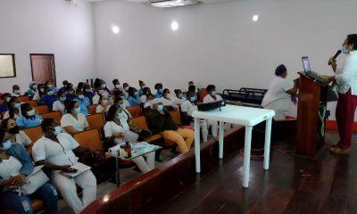 Heridas crónicas y úlceras fueron los temas de la capacitación que se le dio a las enfermeras del hospital Luis Ablanque de la Plata