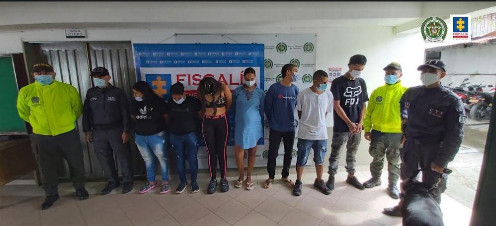 Judicializados siete supuestos integrantes de Apolo, organización que comercializaría estupefacientes en La Virginia, Risaralda - Noticias de Colombia