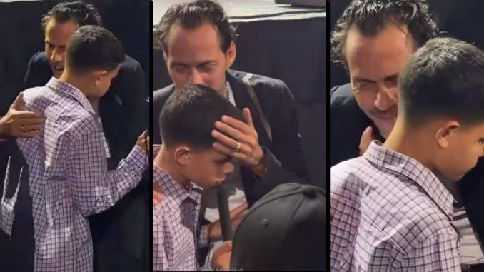 Marc Anthony salió cantonándole al oído a un niño ciego durante un concierto - Noticias de Colombia