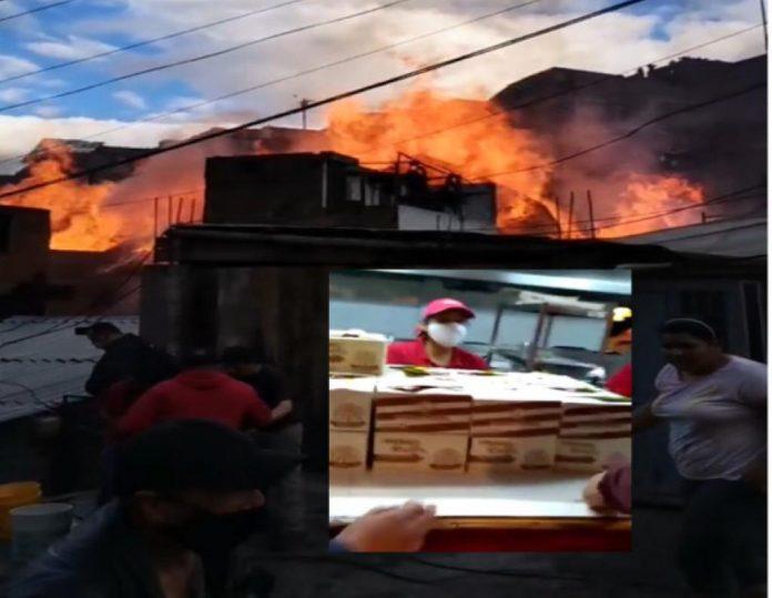 afectados barrio Caicedo en Pasto