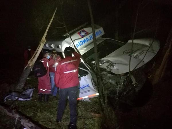 ambulancia se fue al abismo en Nariño