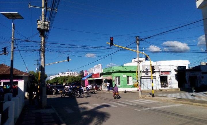 Nuevamente están dañados los semáforos de Las Flores en Cereté