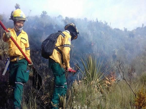 Incendio en Cumbal